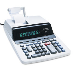 Sharp - vx2652h two-color printing calculator, 12-digit fluorescent, black/red, sold as 1 ea