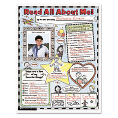 Scholastic - instant personal poster sets, read all about me, 17-inch x 22-inch, 30/set, sold as 1 ea