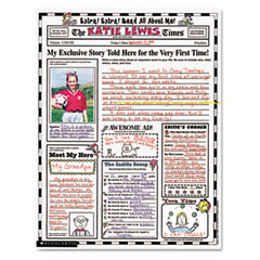 Scholastic - instant personal poster sets, extra extra read all about me, 17-inch x 22-inch, 30/set, sold as 1 ea