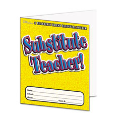 Scholastic - substitute teacher essential laminated folder, prek-6, 16 pages, sold as 1 ea