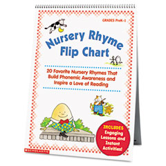 Scholastic - nursery rhyme flip chart, grades prek-1, 20 pages, sold as 1 ea
