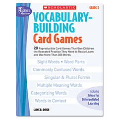 Scholastic - vocabulary building card games, grade two, 80 pages, sold as 1 ea