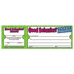 Scholastic 043965209X Good Behavior Ticket Awards, 8 1/2W X 2 3/4H, 100 2-Part Tickets/Pack