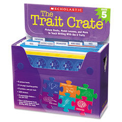 Scholastic - trait crate, grade 5, seven books, posters, folders, transparencies, stickers, sold as 1 kt