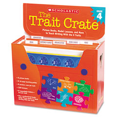 Scholastic - trait crate, grade 4, seven books, posters, folders, transparencies, stickers, sold as 1 kt