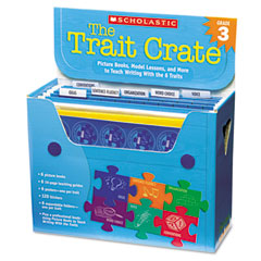 Scholastic - trait crate, grade 3, seven books, posters, folders, transparencies, stickers, sold as 1 kt