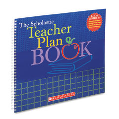 Scholastic - teacher plan book (updated), grade k-6, 13 x 11, 96 pages, sold as 1 ea