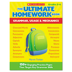 Scholastic - the ultimate homework book: grammar, usage and mechanics, grades 3-6, 176 pages, sold as 1 ea