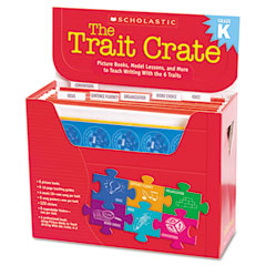 Scholastic - trait crate, kindergarten, six books, learning guide, cd, more, sold as 1 kt