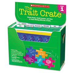 Scholastic - trait crate, grade 1, six books, learning guide, cd, more, sold as 1 kt
