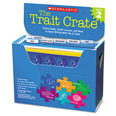 Scholastic - trait crate, grade 2, six books, learning guide, cd, more, sold as 1 kt