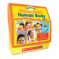 Scholastic - science vocabulary readers: human body, 26 books/16 pages and teaching guide, sold as 1 ea