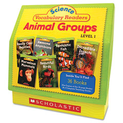 Scholastic - science vocabulary readers: animal groups, 26 books/16 pages and teaching guide, sold as 1 ea