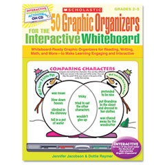 Scholastic - graphic organizers for interactive whiteboard, grades 2-5, 112 pgs, cd, sold as 1 ea