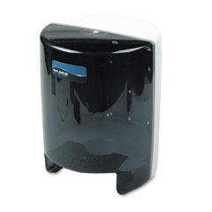 San Jamar T400TBK Classic Center Pull Towel Dispenser, 9-1/8 X 9-1/2 X 11-5/8, Black Pearl/White