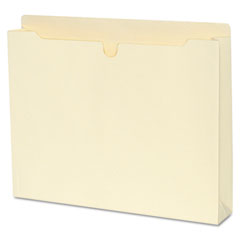 SJ Paper S11320 File Jackets With 1 1/2 Inch Expansion, Letter, 11 Point Manila, 50/Box