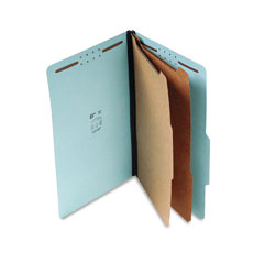 "SJ Paper S61903 Std 2-1/4"" Expansion Classification Folder, Legal, Six-Section, Blue, 15/Box"