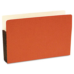 S j paper - durable file pocket, 5 1/4 inch expansion, 11 3/4 x 9 1/2, legal, red, 10/box, sold as 1 bx