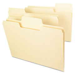Smead 10301 Supertab File Folders, 1/3 Cut Top Tab, Letter, Manila, 100/Box