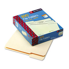 Smead - file folders, 1/3 cut assorted, one-ply top tab, letter, manila, 100/box, sold as 1 bx