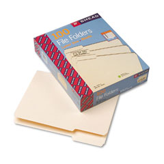 Smead - file folders, 1/3 cut first position, one-ply top tab, letter, manila, 100/box, sold as 1 bx