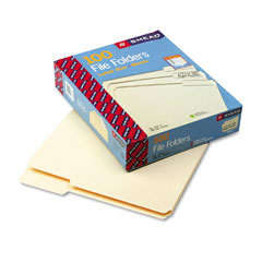 Smead - file folders, 1/3 cut third position, one-ply top tab, letter, manila, 100/box, sold as 1 bx