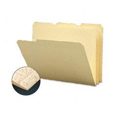 Smead - tear/moisture-resist poly file folders, 1/3 cut top tab, letter, manila, 12/pack, sold as 1 pk