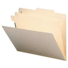 Smead - manila classification folders with 2/5 right tab, letter, six-section, 10/box, sold as 1 bx