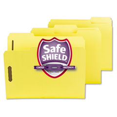 Smead - colored pressboard fastener folders, letter, 1/3 cut, yellow, 25/box, sold as 1 bx