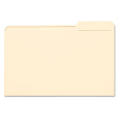 Smead - file folders, 1/3 cut third position, one-ply top tab, legal, manila, 100/box, sold as 1 bx