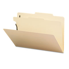 Smead - manila classification folders with 2/5 right tab, legal, four-section, 10/box, sold as 1 bx