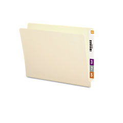 Smead - straight cut end tab folders, 9 1/2 inch front, letter, manila, 100/box, sold as 1 bx