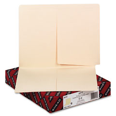 Smead - folders, front/back interior pockets, straight end tab, letter, manila, 25/box, sold as 1 bx