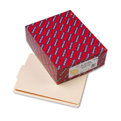 Smead - folders, 1/3 cut center position, reinforced end tab, letter, manila, 100/box, sold as 1 bx