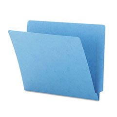 Smead - colored file folders, straight cut, reinforced end tab, letter, blue, 100/box, sold as 1 bx
