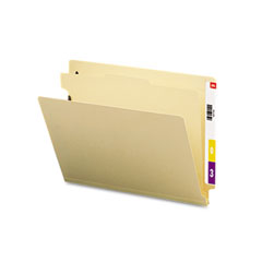 Smead - manila end tab classification folders, letter, four-section, 10/box, sold as 1 bx