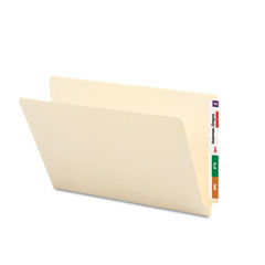 Smead - shelf folders, straight cut, single-ply end tab, legal, manila, 100/box, sold as 1 bx