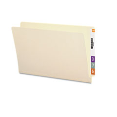 Smead - straight cut end tab folders, 9 1/2 inch front, legal, manila, 100/box, sold as 1 bx