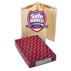 Smead - manila end tab classification folders, legal, four-section, 10/box, sold as 1 bx