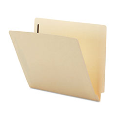 Smead - heavyweight folder, two fasteners, end tab, letter, 11 point manila, 50/box, sold as 1 bx