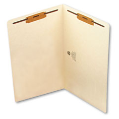 Smead - heavyweight folders, two fasteners, end tab, legal, 11 point manila, 50/box, sold as 1 bx