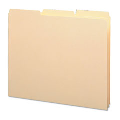 Smead 50134 Recycled Tab File Guides, Blank, 1/3 Tab, 18 Point Manila, Letter, 100/Box