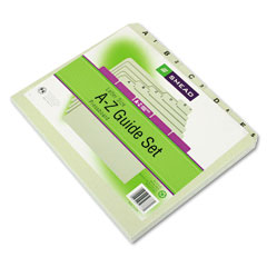 Smead - recycled top tab file guides, alpha, 1/5 tab, pressboard, letter, 25/set, sold as 1 st