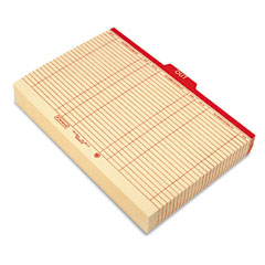 Smead - charge-out record guides, 1/5 red -inchout-inch tab, manila, legal, 100/box, sold as 1 bx