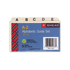 Smead 55076 Self-Tab Card Guides, Alpha, 1/5 Tab, Manila, 25/Set