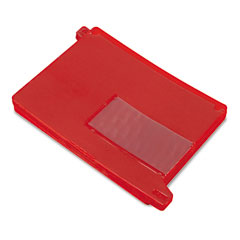 Smead 61950 End Tab Out Guides With Pockets, Poly, Letter, Red, 25/Box