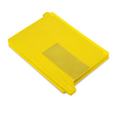 Smead - end tab out guides with pockets, poly, letter, yellow, 25/box, sold as 1 bx