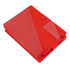 Smead 61960 Out Guides With Diagonal-Cut Pockets, Poly, Letter, Red, 50/Box