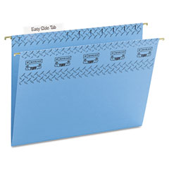 Smead - tuff hanging folder with easy slide tab, letter, blue, 18/pack, sold as 1 bx