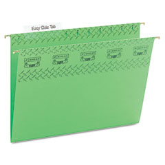 Smead - tuff hanging folder with easy slide tab, letter, green, 18/pack, sold as 1 bx
